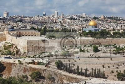 Majestic panorama Jerozolimy.