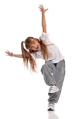 Obraz Mała dziewczyna tańczy