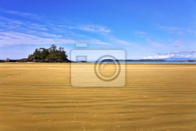 Mała wyspa w pobliżu na Big Island Vancouver
