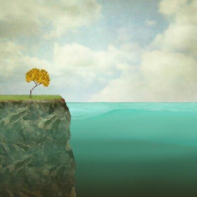 Obraz Małe drzewa zawieszony