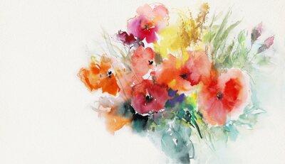 Obraz malowane maki papieru