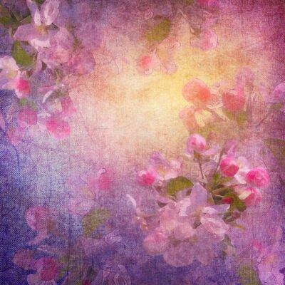 Obraz Malowanie sztuka styl wiosna kwiatów