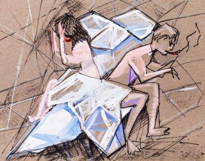 Obraz Małżonkowie w kłótni
