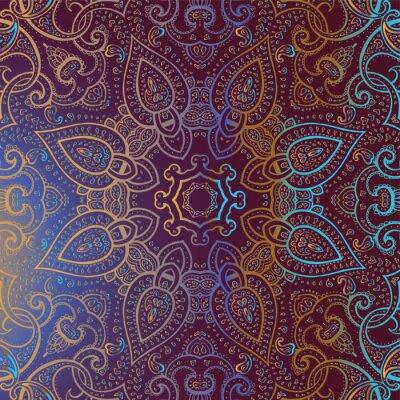 Obraz Mandala. Indian dekoracyjny wzór.