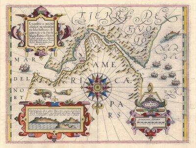 Obraz Mapa Cieśninę Magellana