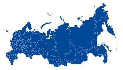 Obraz Mapa Federacji Rosyjskiej