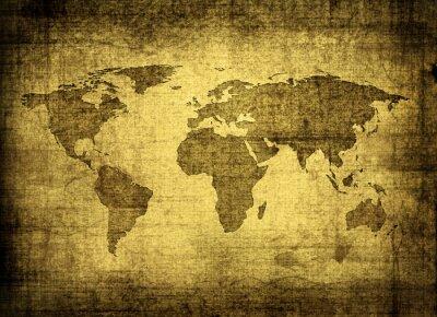 Obraz mapa grunge świata