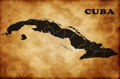 Obraz Mapa Kuby