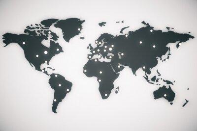 Obraz Mapa świata ilustracji z literami, 3d