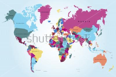 Obraz Mapa świata politycznego