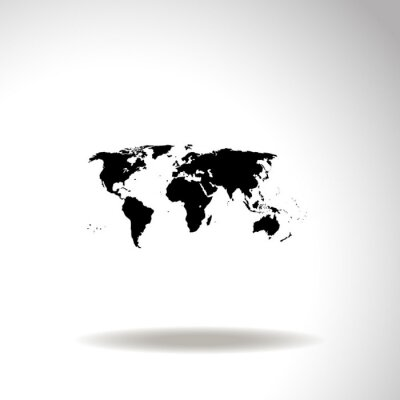 Obraz Mapa świata wektor ikony.