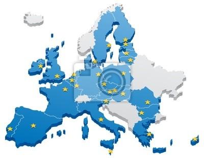 Obraz Mapa Unii Europejskiej