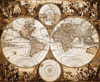 Obraz Mappemonde Ancienne
