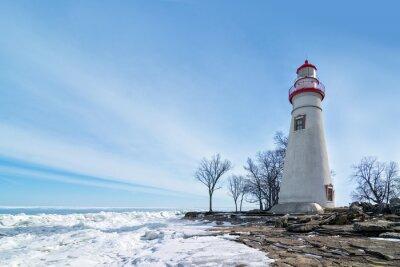 Obraz Marblehead Lighthouse Scene Winter