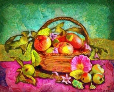 Obraz Martwa natura z jabłkami