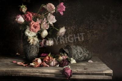 Obraz martwa natura z kwiatem