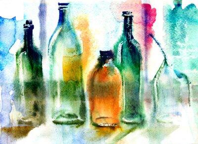 Obraz Martwa natura z różnych butelek