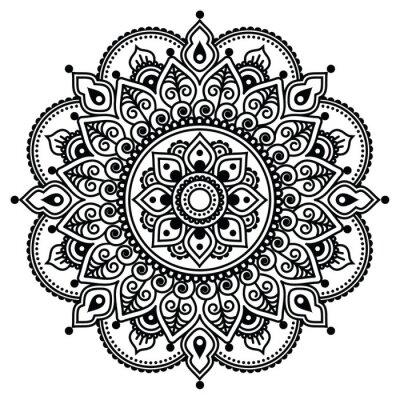 Mehndi Tatuaż Henną Lub Tło Wzór Indyjskich Obrazy Na ścianę