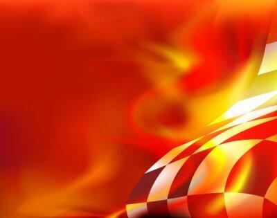 Obraz mety tło i czerwone płomienie
