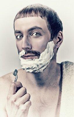 Obraz Mężczyzna golenia