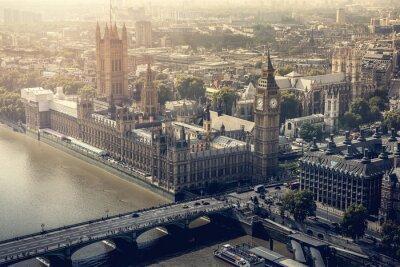 Obraz miasto Londyn widok z lotu ptaka