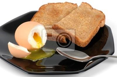 miękkie gotowane jajka i tosty