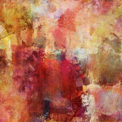 Obraz mieszana spadek kolory malowanie