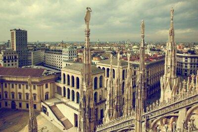 Obraz Milan, Italy. Widok na Pałac Królewski - Palazzo Realle