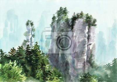 Misty skały
