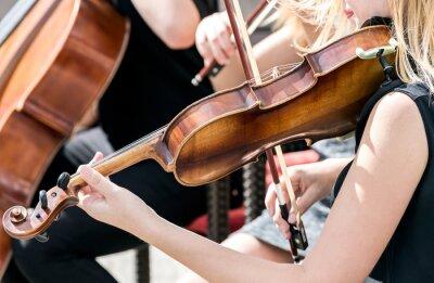 Obraz Młoda kobieta, grając na skrzypcach