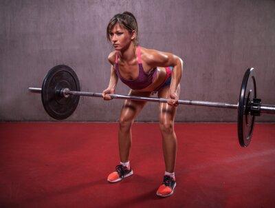 Obraz Młoda kobieta w fitness sesji