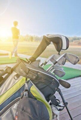 Obraz młodzieży uprawiania golfa