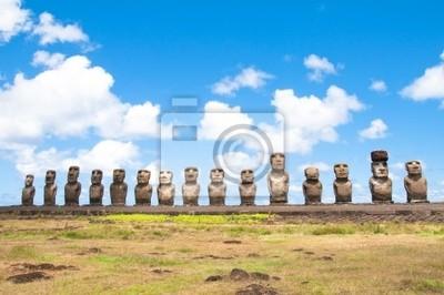 Moais in Rapa Nui