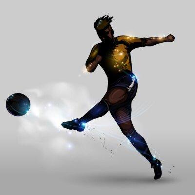 Obraz Moc Streszczenie piłka nożna strzelanie
