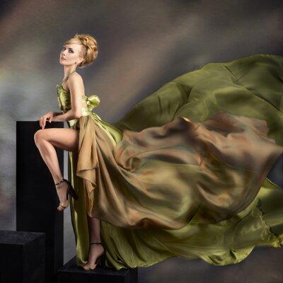 Obraz Moda portret młodej pięknej kobiety