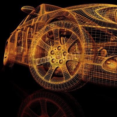 Obraz Modele 3D samochodów