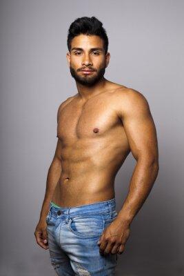 Obraz Modelo masculino musculoso con tułowia desnudo