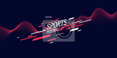 Obraz Modern colored poster for sports. Illustration suitable for design