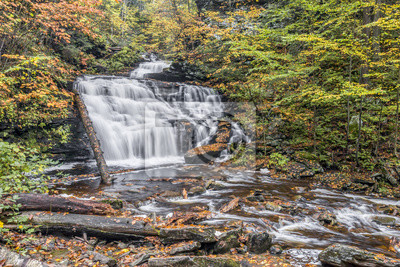 Mohican Falls w Ricketts Glen, Pennsylvania