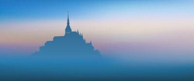 Obraz Mont St Michel - panoramique - Aube