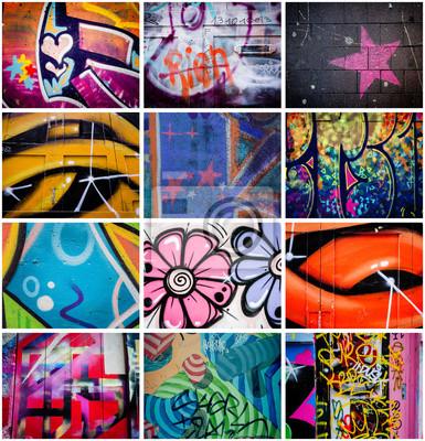 Obraz Montage de graffiti