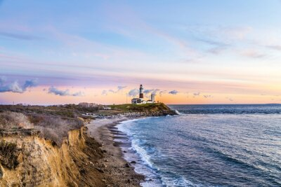 Obraz Montauk Point Light, Lighthouse, Long Island, Nowy Jork, Suffolk