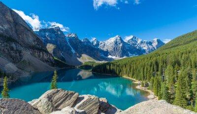 Obraz Moraine Lake in Banff National Park in the Canadian Rockies near Lake Louise, Alberta, Canada