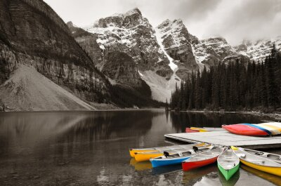 Obraz Moraine Lake łódź