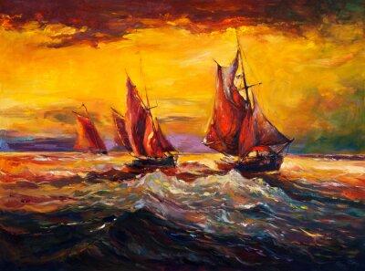 Obraz Morze i statek