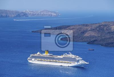 Morze liniowej w zatoce Santorini