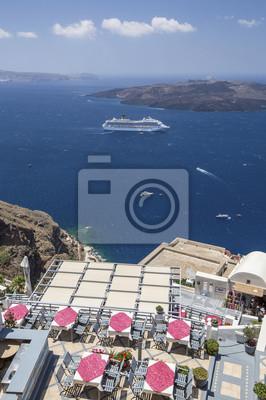 morze morze kawiarnia z wkładką na Santorini