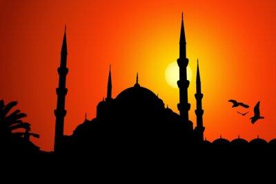 Obraz Moschea sylwetka