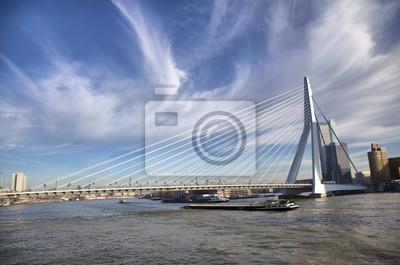 Most Erazma w Rotterdamie na Maas rzeki Nieuve, Rotterdam,