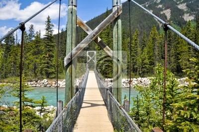 Most nad rzeką w Vermilion Kootenay National Park, Kanada